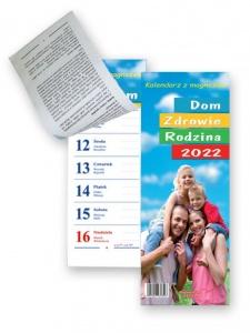 KL 1 Dom - Zdrowie - Rodzina – kalendarz tygodniowy z paskiem magnetycznym