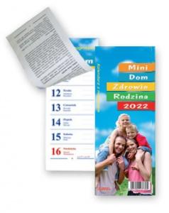 KL 2 MINI Dom – Zdrowie – Rodzina – mały kalendarz tygodniowy z paskiem magnetycznym